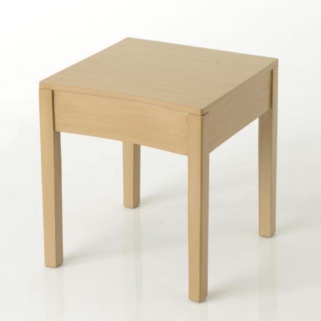 AMADEUS Bout de canapé carré Tonkin 40x40 cm