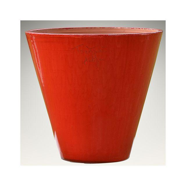 vase rouge en. Black Bedroom Furniture Sets. Home Design Ideas