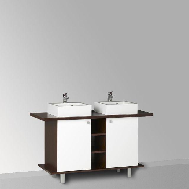 Creazur Caisson double vasque StÉFIA 100-136 - Blanc