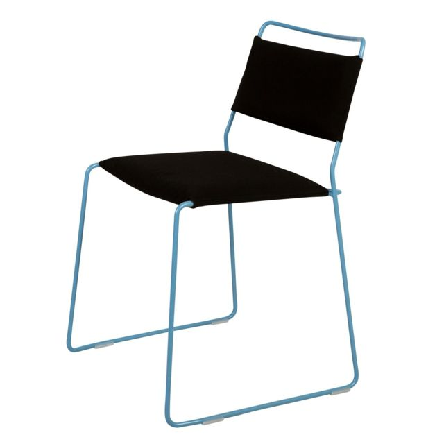 Ok Design Chaise One Wire - bleu - noir