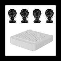 Auto-hightech - Kit compact 4 canaux Hd Nvr - 4 Wi-Fi 720P caméras, détection de mouvement, vision nocturne, visualisation à distance, Onvif 2.2