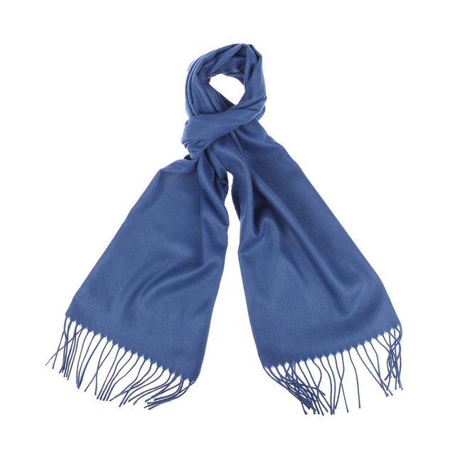 Jean Chatel - Echarpe douce bleu indigo - pas cher Achat   Vente ... 093503a26ca