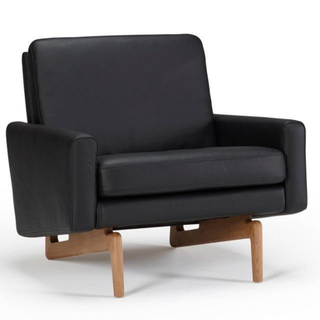 inside 75 fauteuil design scandinave egsmark pi tement en ch ne cuir noir sebpeche31. Black Bedroom Furniture Sets. Home Design Ideas