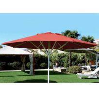Abritez-vous Chez Nous - Parasol aluminium diam. 6m Maxisoco Rouge
