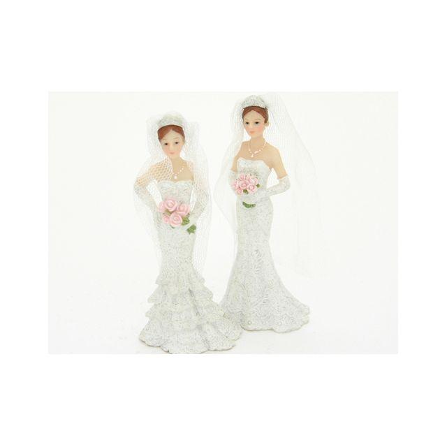 Figurine mariée blanche seule 11 cm