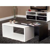 Symbiosis - Table basse rectangulaire gigogne en bois L70xP40xH35cm