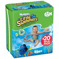 Huggies - Maxi Pack Little Swimmers - Taille 3-4 - 20 couches - Couches de bain