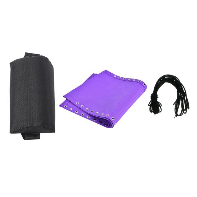 1Set Tissu Tissu Appuie-Tête Lacets Oreiller Pour Chaise Pliante Rembourrée Violet