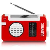 Duronic - Hybrid Radio solaire / dynamo / Usb appareil d'urgence / parfait pour loisirs d'extérieurs