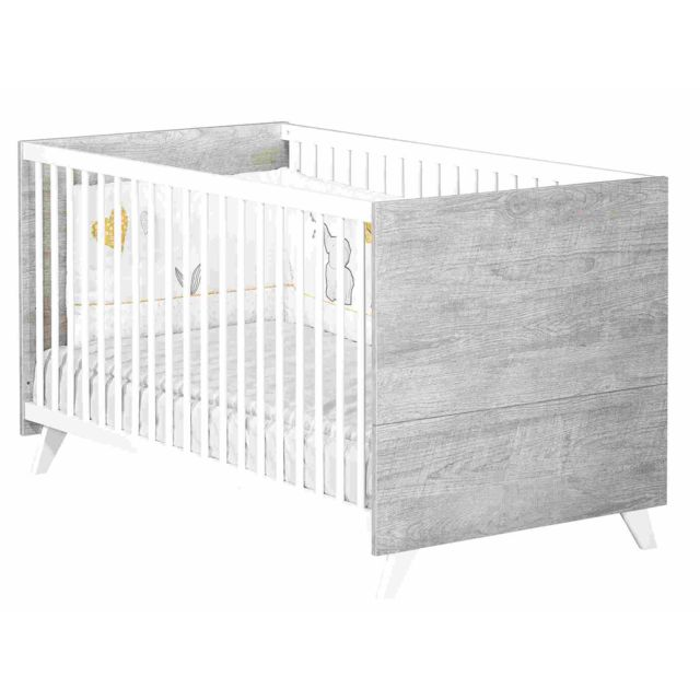 BABYPRICE LITTLE BIG BED 140x70 SCANDI GRIS