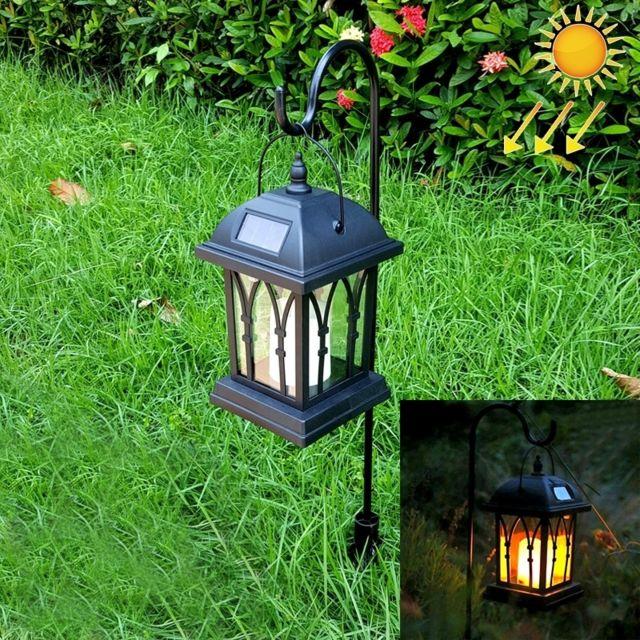 eclairage jardin led solaire Wewoo - Led Avec panneau solaire noir Puissance Bougie Jardin Lumière Lampe  à Gazon avec Polonais