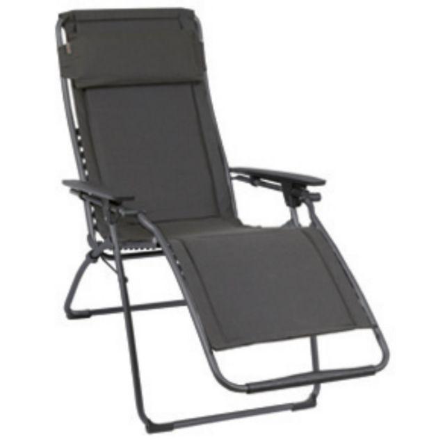 lafuma fauteuil relax mat ardoise nc pas cher achat vente chaises de jardin rueducommerce. Black Bedroom Furniture Sets. Home Design Ideas