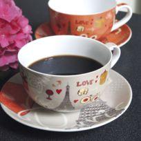 tasse petit dejeuner porcelaine achat tasse petit dejeuner porcelaine pas cher rue du commerce. Black Bedroom Furniture Sets. Home Design Ideas