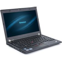 X230 - Intel Core i5 3320M 2,6 Ghz - RAM 4 Go - HDD 320Go - Ecran 12,4 - Win 10 pro