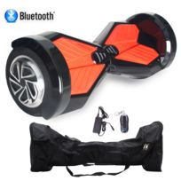 COOL AND FUN - COOL&FUN Hoverboard Batterie Samsung, Bluetooth gyropode 8 pouces Noir Rouge