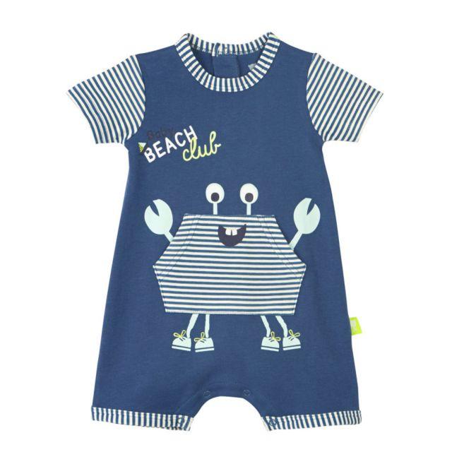 70bf95a15742a Petit Beguin - Barboteuse bébé garçon Baby Beach Club - Taille - 12 mois