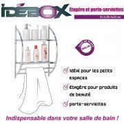 Idebox - Etagère porte serviette métal Glo6254