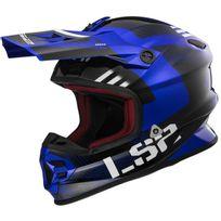 Ls2 - casque Fibre cross enduro quad Rallie Mx456.34 noir bleu brillant L