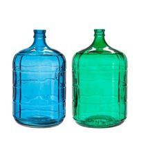J-line - Lot de 2 vases 24x42 cm vert et bleu