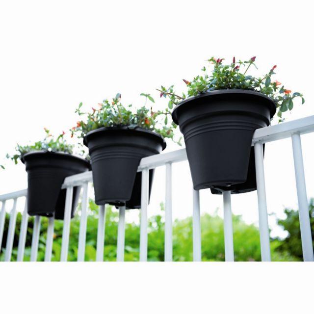 Pot de fleurs spécial balcon 30cm anthracite Nc - 0cm x 0cm x 0cm