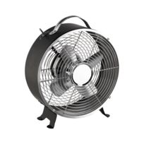 DOMOCLIP - Ventilateur de table vintage noir DOM348N