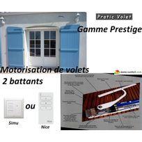 Pratic volet - Motorisation radio volets battants sur mesure prestige 2 vantaux Brascoulissant