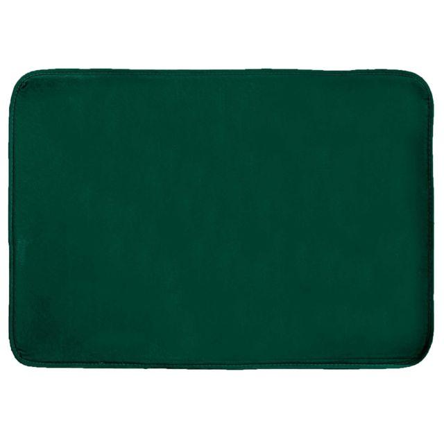 Douceur D'INTERIEUR Cdaffaires Tapis rectangle 120 x 170 cm velours uni louna Vert