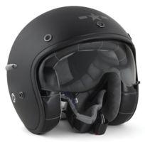 Harisson - casque jet moto scooter fibre noir mat - Ca102