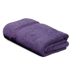 Linnea serviette de toilette 50x100 cm royal cresent prune 650 g m2 violet pas cher achat - Serviette de bain carrefour ...