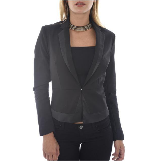Morgan - Blazer Cintré Finition Satin Vlara Les Noirs - pas cher Achat   Vente  Veste femme - RueDuCommerce c37e6d6f1e9