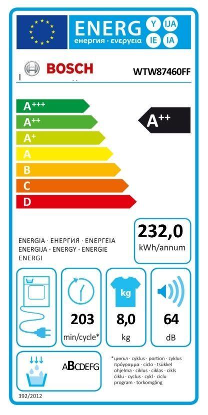 Sèche-linge à condensation WTW87460FF