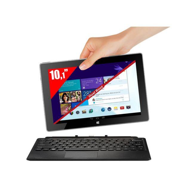 Achat THOMSON Tablette PC 2-en-1 10,1   Dual Boot - Noir Ordinateur ... d38e36ac4214
