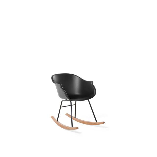 BELIANI Chaise à bascule noire HARMONY - noir