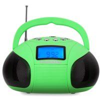 Mcgrey - Boombox Mc-50BT-GR Bluetooth haut-parleur avec portes usb/sd et radio Fm, verte