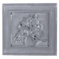Chemin De Campagne - Plaque Murale Cupidon Ange Chérubin en Ciment 23x21 cm