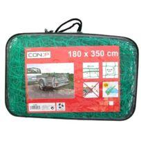 Con:P - B34069 Filet De Protection Pour Remorque 180 X 350 Cm, ÉPAISSEUR Fil 1,8 Mm, Mailles 45 X 45 Mm, ÉPAISSEUR 6 Mm