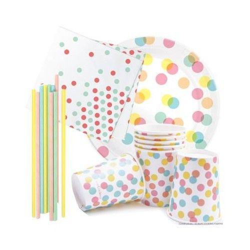 Scrapcooking Kit anniversaire vaisselle Confettis Party
