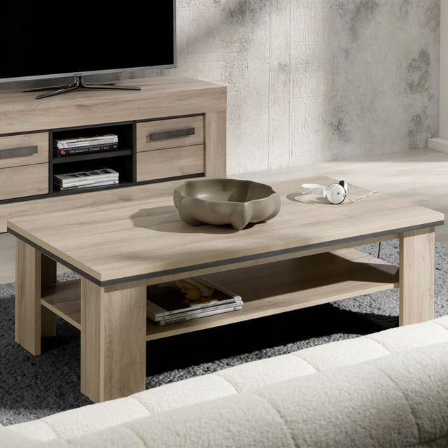 Kasalinea Table de salon 130 cm couleur chêne clair Winston