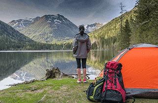 Départ pour un Weekend camping