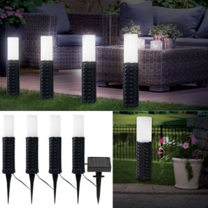 probache borne solaire imitation rotin x4 balise led. Black Bedroom Furniture Sets. Home Design Ideas