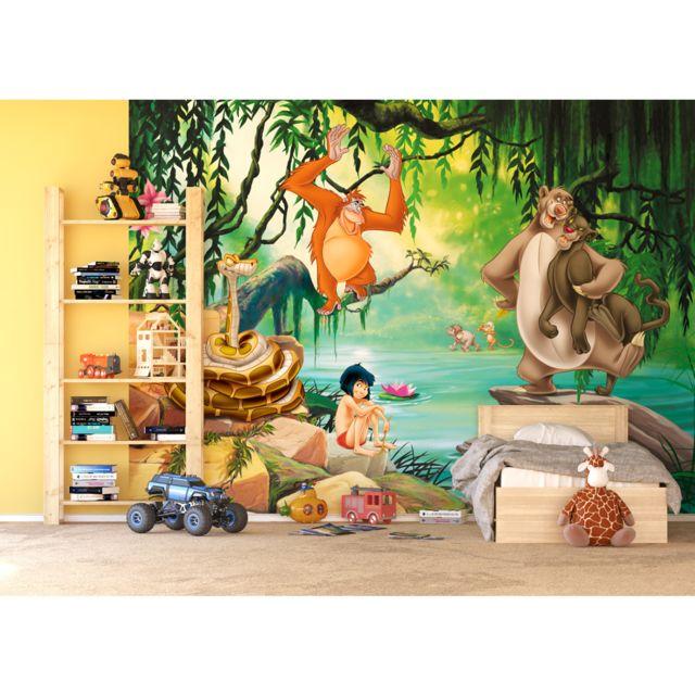bebe gavroche papier peint xxl le livre de la jungle disney 360x255 cm multicolore 0cm x 0cm. Black Bedroom Furniture Sets. Home Design Ideas