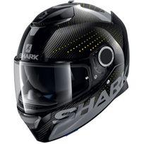 Shark - casque moto intégral en Carbone Spartan Carbon Cliff Day noir gris brillant L
