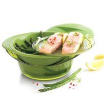 Mastrad - Cuit-Vapeur panier et couvercle silicone vert 3,2L
