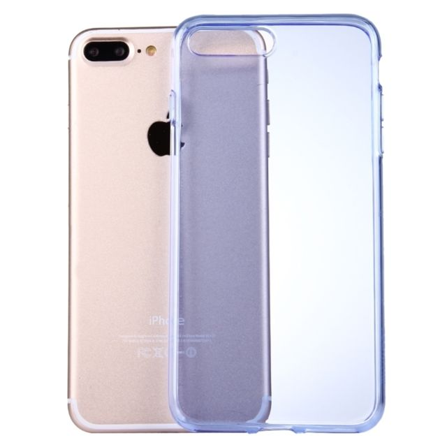 coque transparente et bleu iphone 8