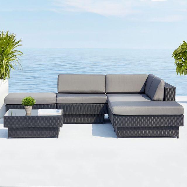 Best Salon De Jardin En Resine Tressee D Angle Luxe Poly ...