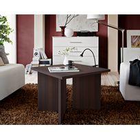 Asm-mdlt - Table basse carrée laminée wengé Piko 60x45x60 cm