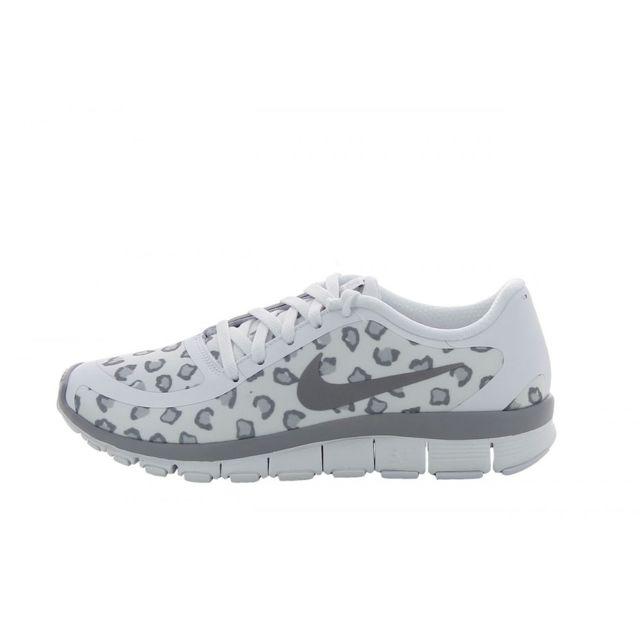 6d5eabec5d5c Nike - Basket Free 5.0 V4 Print Running - 695168-100 Blanc - 36 - pas cher  Achat   Vente Baskets femme - RueDuCommerce