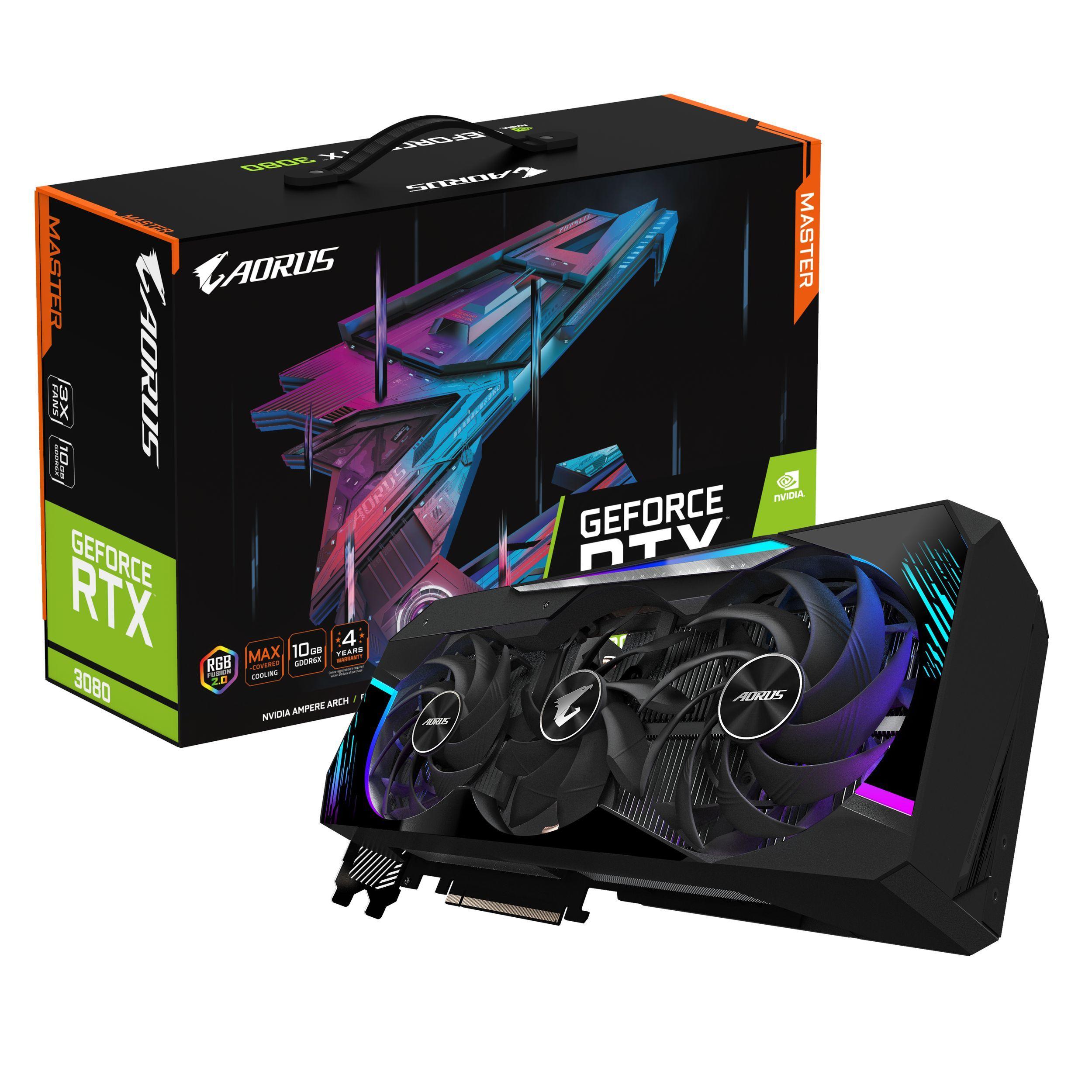 Carte graphique Gaming AORUS GeForce RTX™ 3080 MASTER Gigabyte