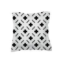 Sisomdos - Taie d'oreiller Paris 65x65 cm noir et blanc