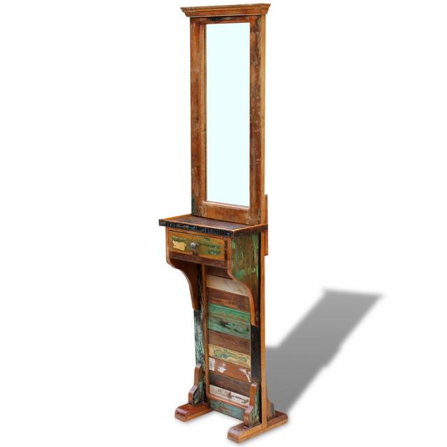 Vidaxl Miroir de couloir Bois récupération massif 47 x 23 180 cm